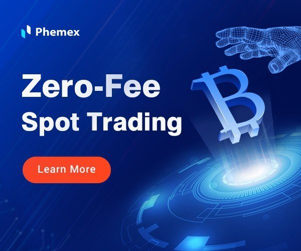 Phemex - zero fee spot trading